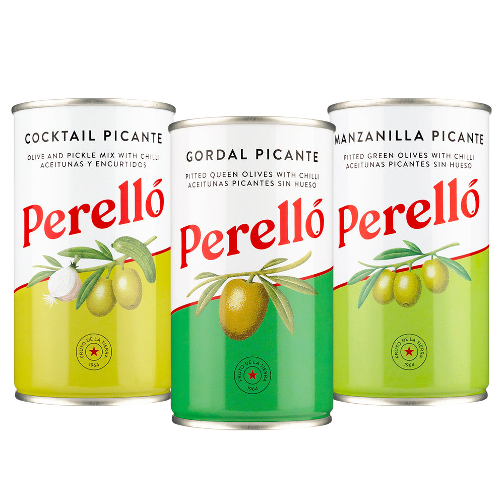 Perello Olives Tin Selection, Pack of 3*