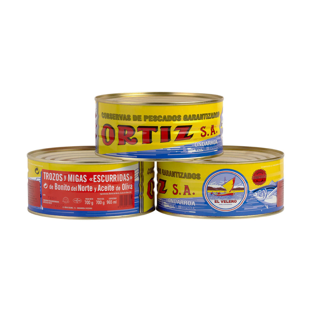 Ortiz Bonito Tuna Flakes in Olive Oil 670g
