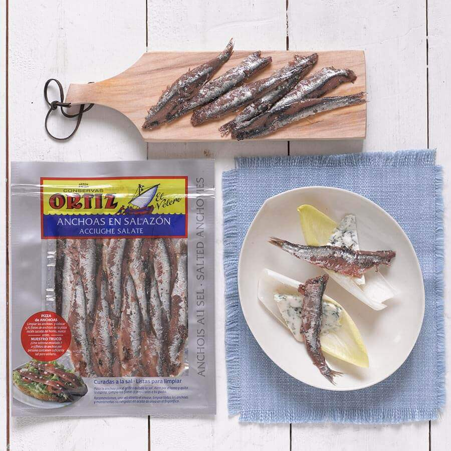 Ortiz Salted Anchovies 100g