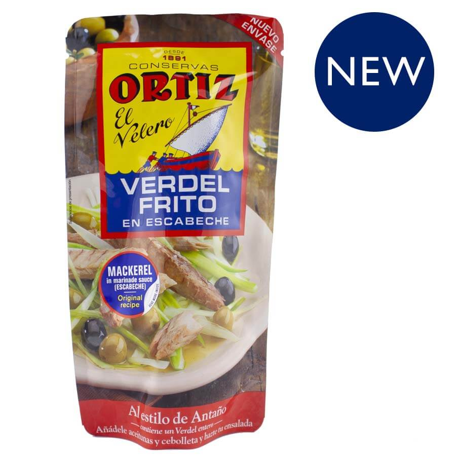 Ortiz Fried Mackerel in Escabeche 300g Pouch Brindisa Spanish Foods