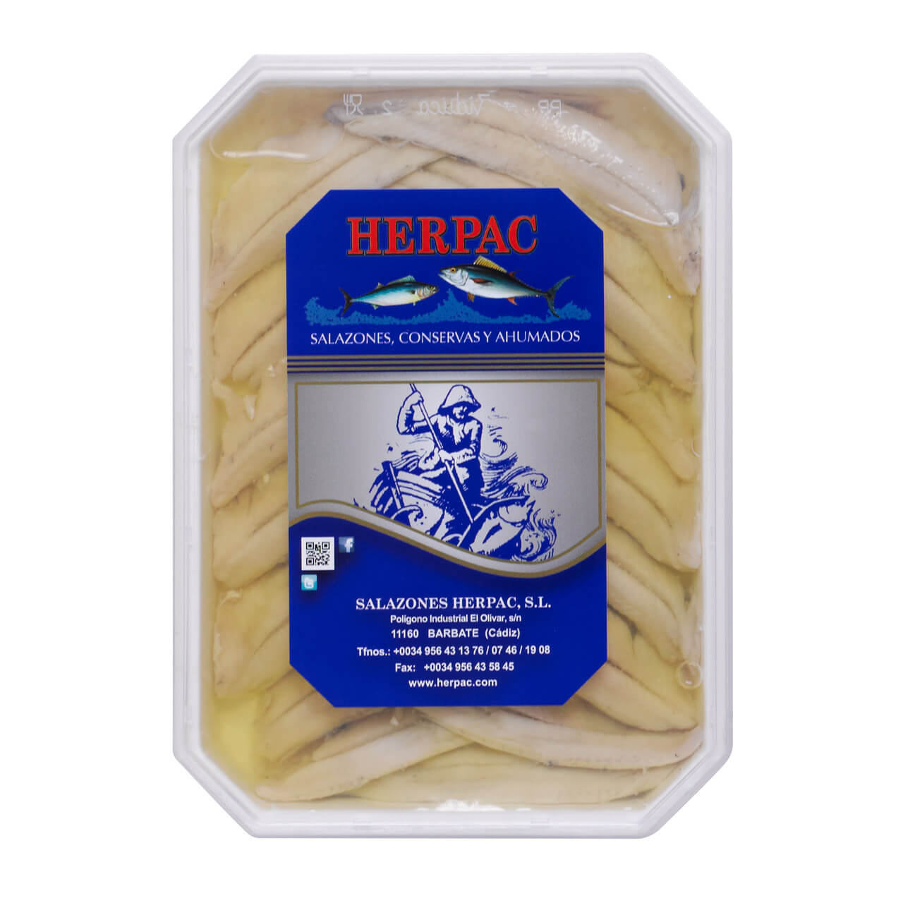 Herpac Boquerones in Vinegar and Sunflower Oil Brindisa Spanish Foods