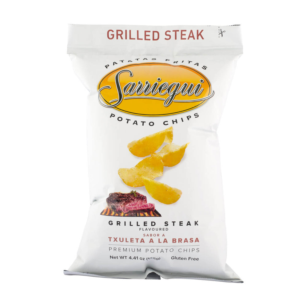 Sarriegui Grilled Steak Potato Crisps, 125g