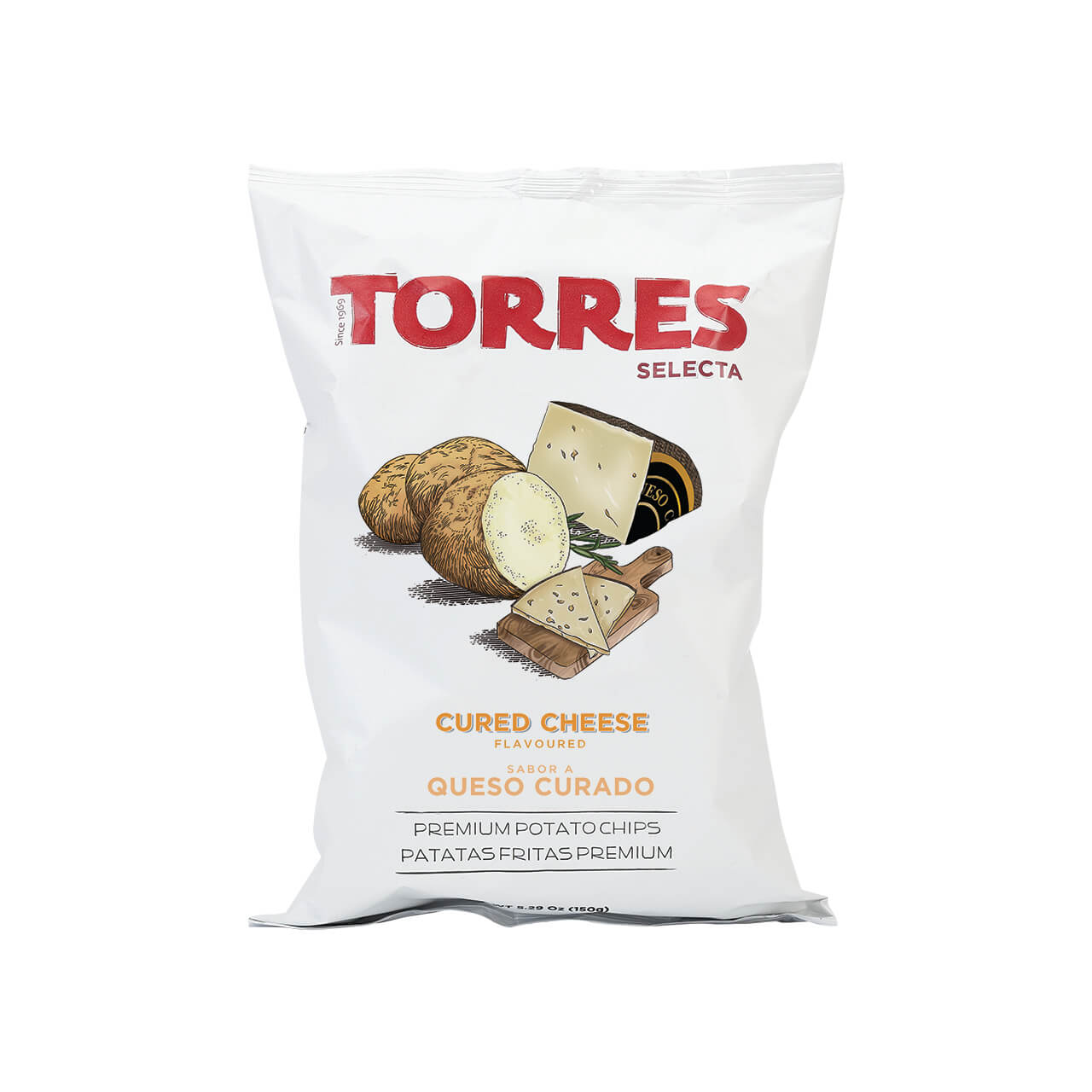 Torres cured cheese Potato Crisps Brindisa Spanish Foods