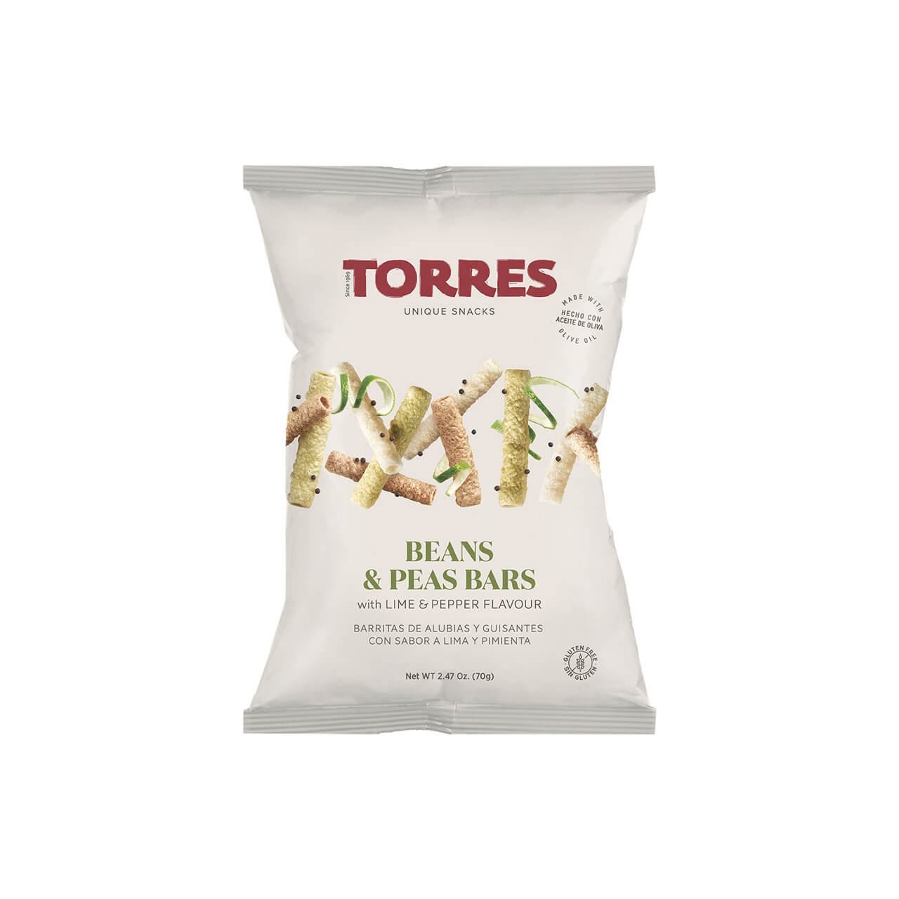 torres beans and peas bars snack