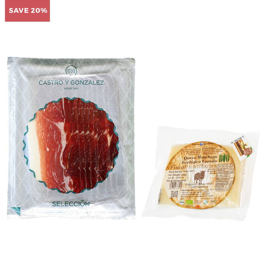 Iberico Ham and Organic Manchego (SAVE 20%)