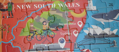 Round Jigsaw Puzzle - Australia 210 Pieces for Children Aged 6+
