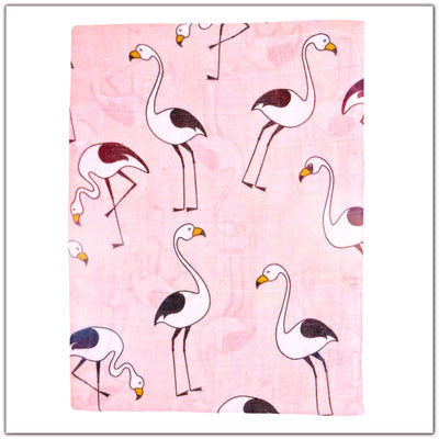 Pink Flamingo Baby Swaddle