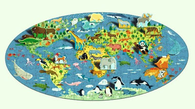 Learn & Explore World of Animals Book & 3D Puzzle Set, 200 pcs
