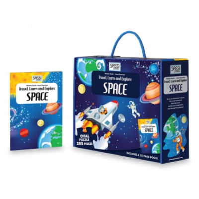 Travel, Learn and Explore - Space Puzzle & Book Set, 205 pcs