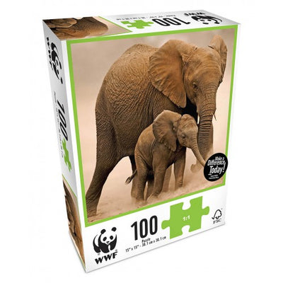 WWF 100 Piece Elephants Puzzle
