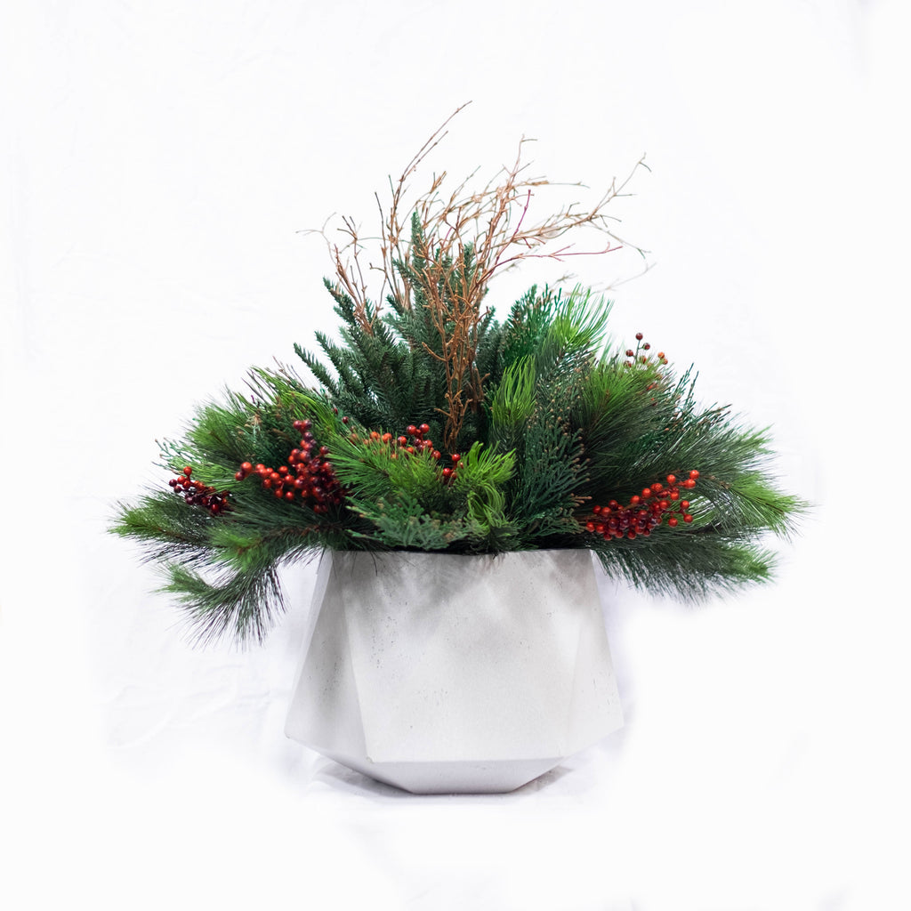 """CEDAR & BERRY"" Seasonal Arrangement"