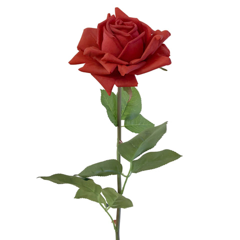 "Single Stem: Extra Large Red Diamond Artificial Rose 24"" (Set of 12)"