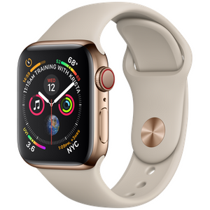 Refurbished Apple Series 4 Watch Stainless Steel 40mm Sport Band GPS + Cellular