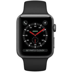 Refurbished Apple Watch (Series 2) 38mm - Black Stainless Steel Case with Black Sport Band