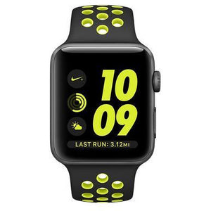 Refurbished Apple Watch Nike (Series 2) 42mm - Space Gray Aluminum Case with Black/Volt Nike Band