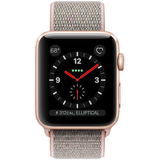 Refurbished Apple Watch (Series 3) Aluminum 42mm Sport Loop GPS + Cellular (Gold face/Pink Sand band)