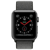 Refurbished Apple Watch (Series 3) - 42mm Space Gray Aluminum - Dark Olive and GPS+Cellular