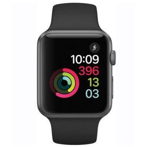 Refurbished Apple Watch (Series 1) - 42mm Space Gray Aluminum Case with Black Sport Band