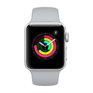 Refurbished Apple Watch (Series 3) Space Gray Aluminum Case with Gray Sport Band  38mm GPS Only