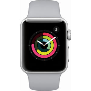 Refurbished Apple Watch (Series 3) Silver Aluminum Case with Fog Sport Band 38mm GPS Only