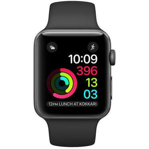 Refurbished Apple Watch (Series 1) - 38mm - Space Gray Aluminum Case with Black Sport Band