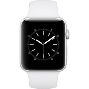 Refurbished Apple Watch (Series 2) 42mm - Silver Aluminum Case with White Sport Band