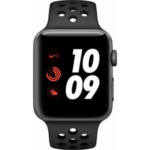 Refurbished Apple Watch (Series 3)  Aluminum 42mm Nike Sport Band (Space Gray face/Anthracite/Black band)