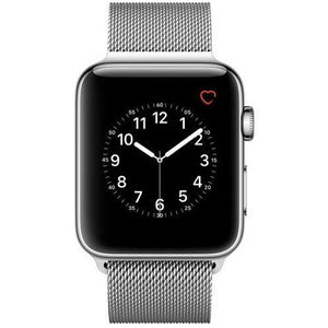 Refurbished Apple Watch (Series 0) Stainless Steel 38mm with Milanese Loop Band