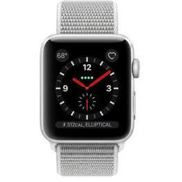 Refurbished Apple Watch (Series 3) Silver Aluminum Case with Seashell Sport Loop  38mm GPS + Cellular