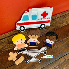 EMT Ambulance Finger Puppet Set