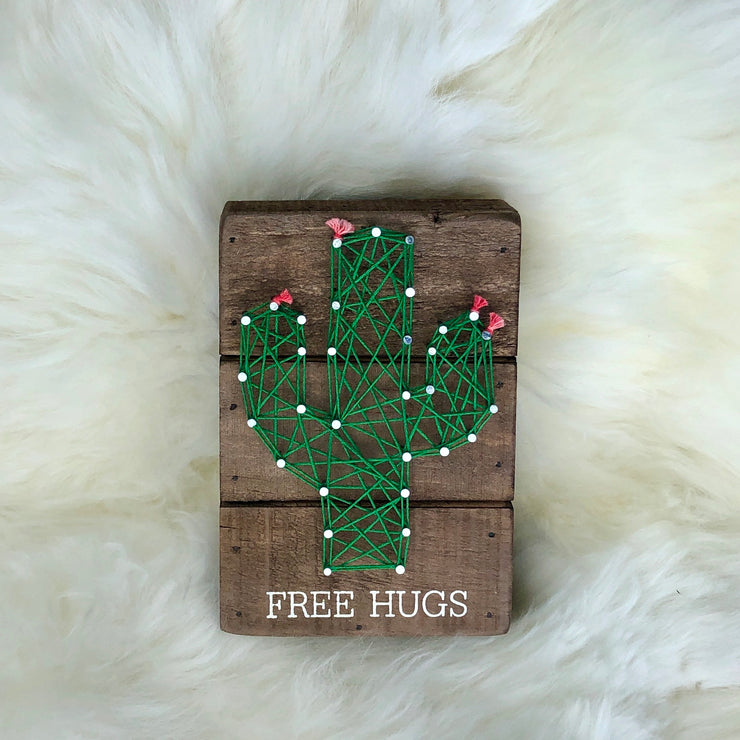 Free Hugs String Art Sign