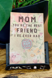 Best Mom Ever Round Enamel Pin