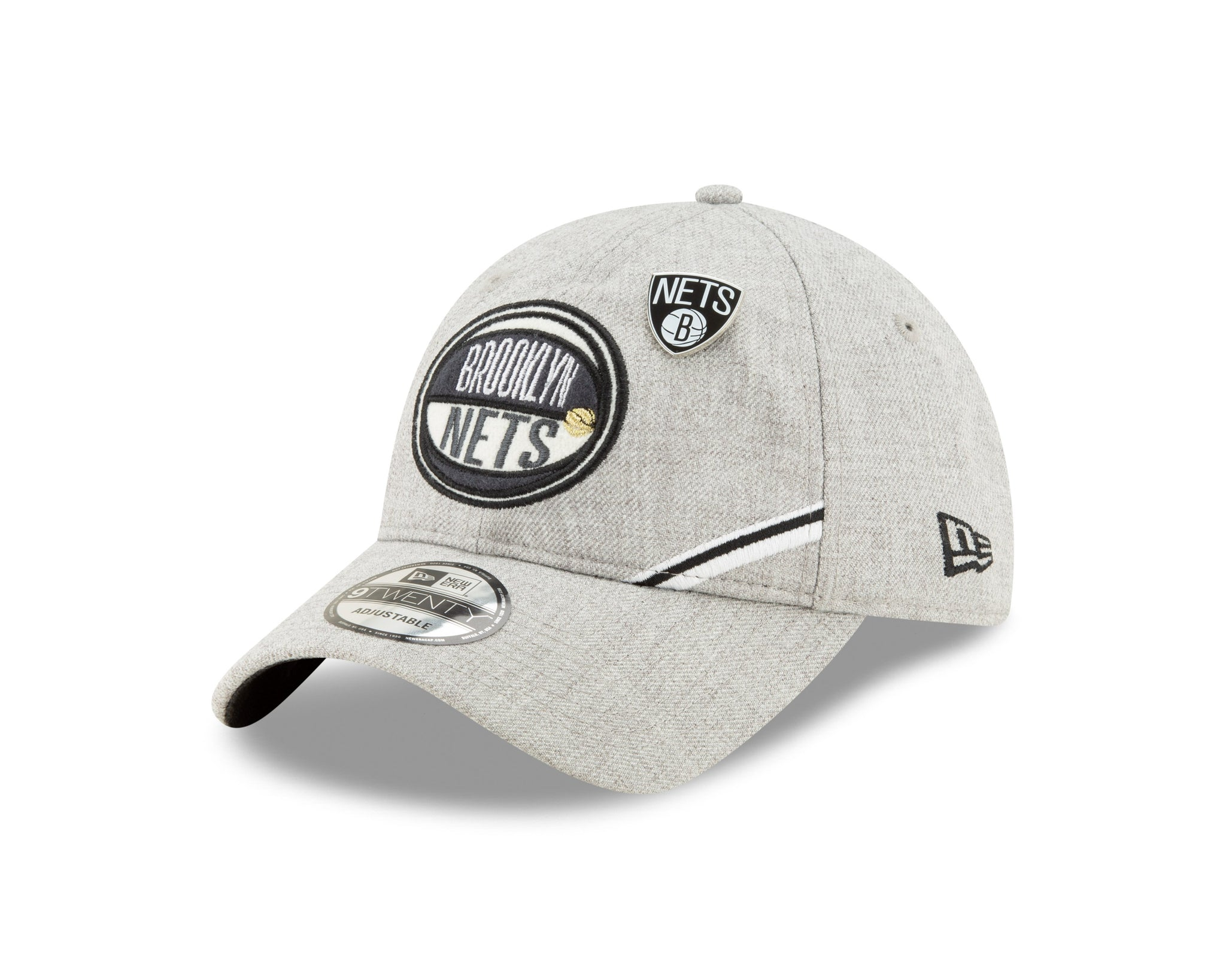 Brooklyn Nets New Era 2019 NBA Draft Heather Grey 9Twenty