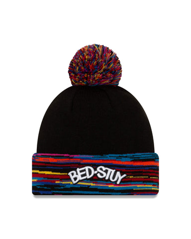 City Edition Bed Stuy Cuffed Knit w/ Pom - NetsStore.com