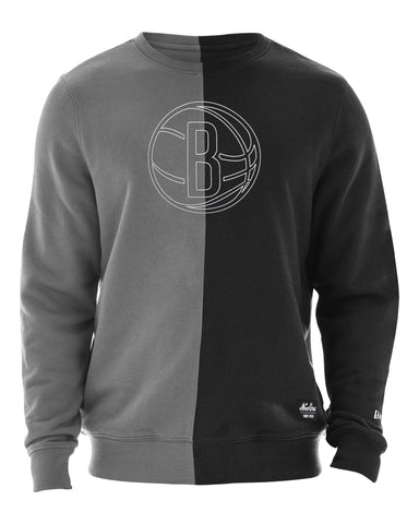 Split Color Crew Neck Sweatshirt - NetsStore.com
