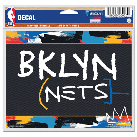 "20-21 City Edition 5""x6"" Multi-Use Logo Decal - NetsStore.com"