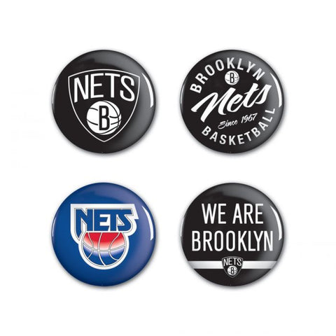 Nets 4-Pack Button Set