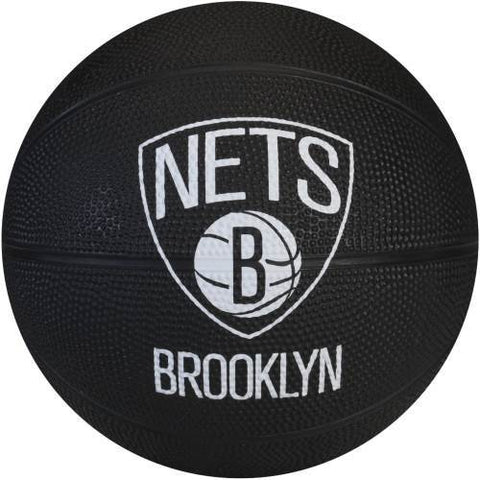 Brooklyn Nets Spalding Mini Basketball - Black - NetsStore.com