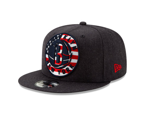 save off a8126 23a0e Brooklyn Nets New Era 9Fifty Americana Logo Snapback Hat - Navy