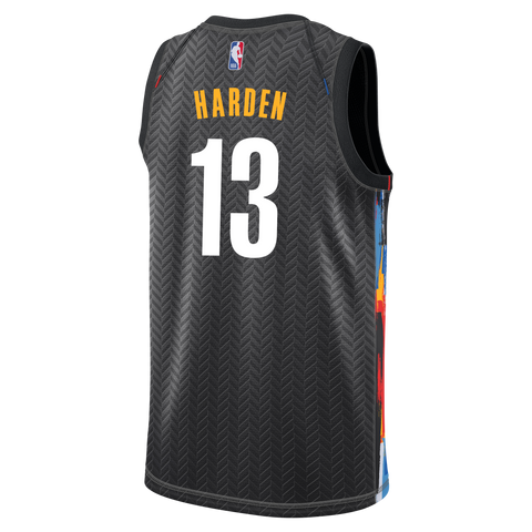 James Harden #13 Adult 20-21 City Edition Swingman Jersey - NetsStore.com
