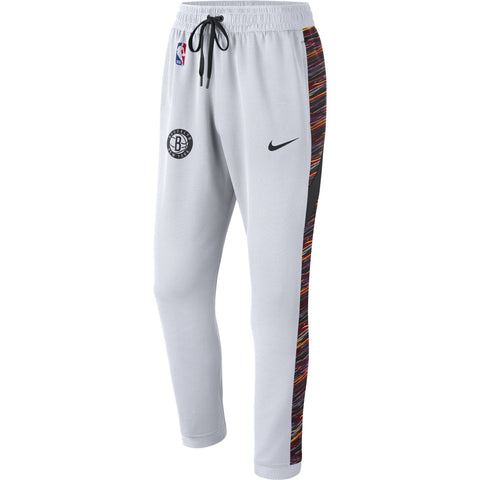 Brooklyn Nets Earned Edition Men's Showtime ThermaFlex On Court Nike Warm Up Pants - NetsStore.com