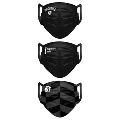 Brooklyn Nets Adult 3-Pack Cloth Face Covering - NetsStore.com