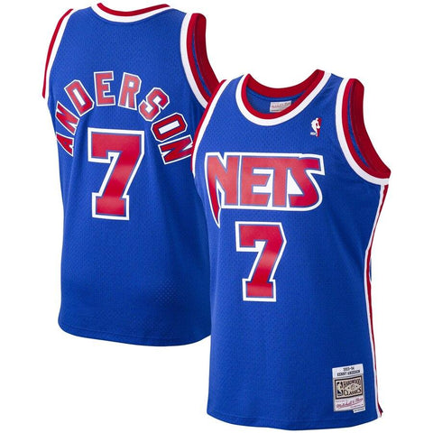 New Jersey Nets Kenny Anderson Adult Mitchell & Ness Retro Jersey - NetsStore.com