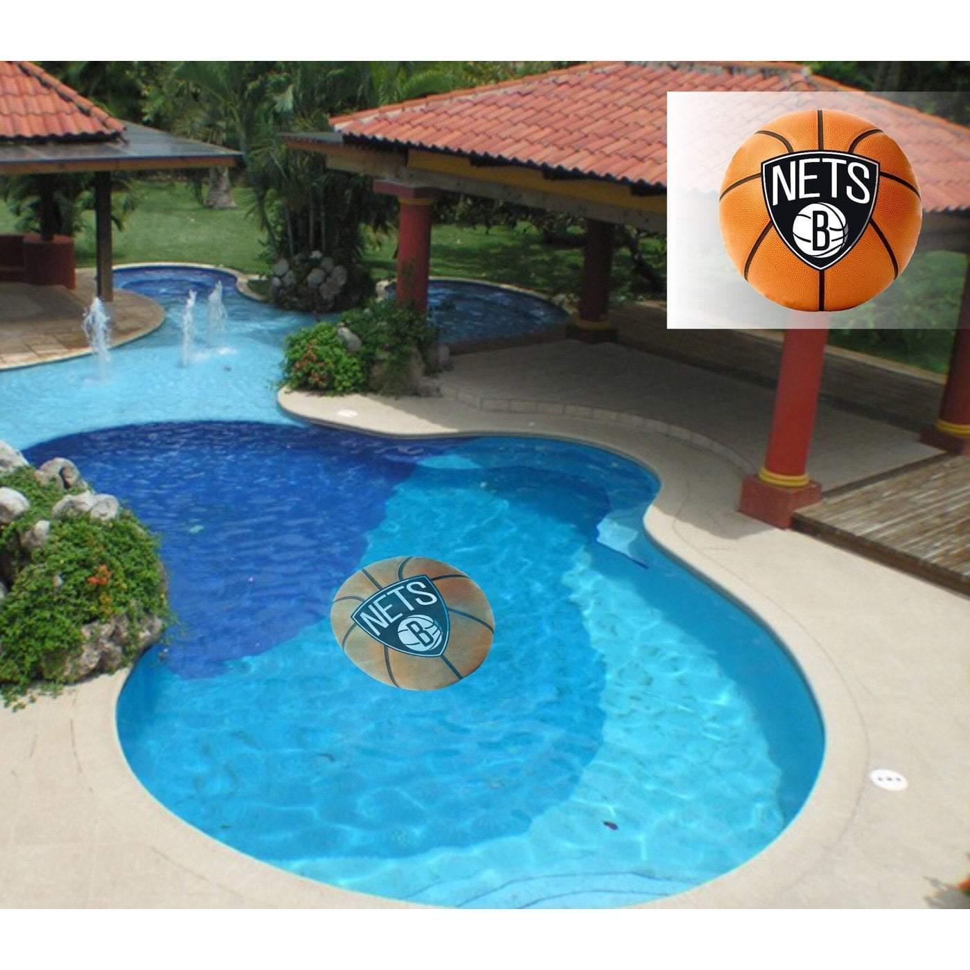 "Applied Icon Outdoor Décor Brooklyn Nets Large 59"" Pool Graphic"