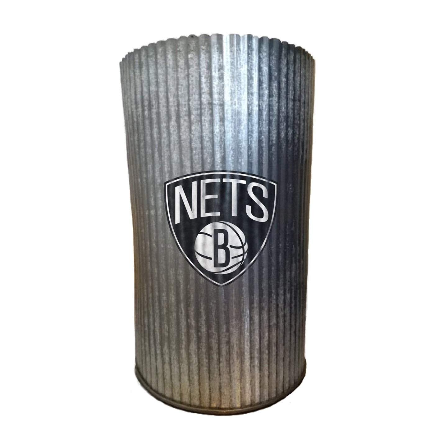 Applied Icon Outdoor Décor Brooklyn Nets Metal Cylinder Vase