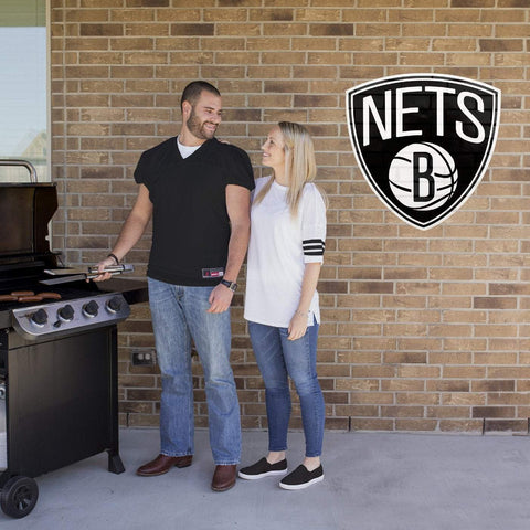 "Applied Icon Outdoor Décor Brooklyn Nets Primary Logo 30"" Outdoor Graphic"