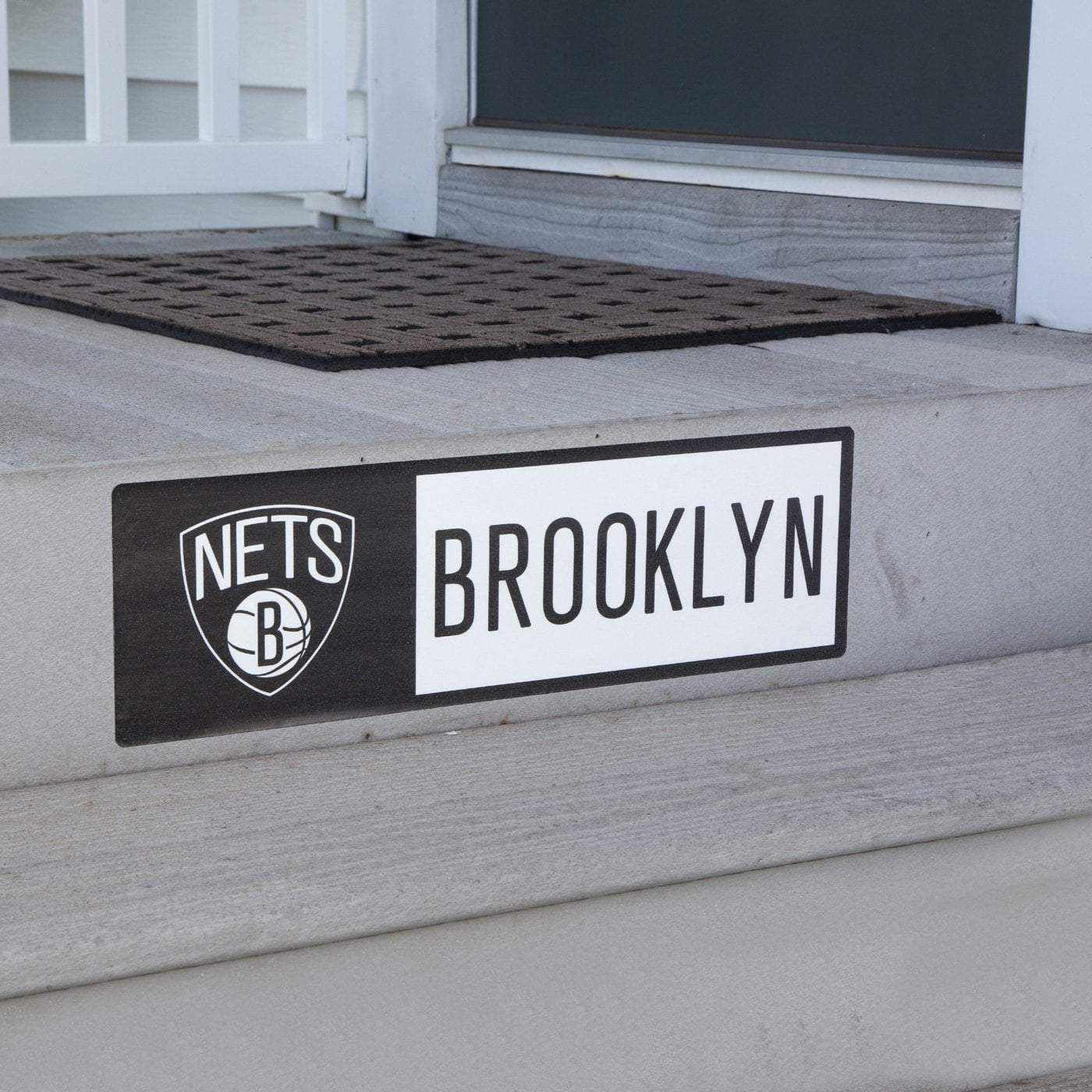 Applied Icon Outdoor Décor Brooklyn Nets Step Graphic