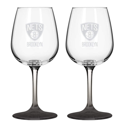 Boelter Drinkware 12OZ Brooklyn Nets Boelter 12oz Wine Glass