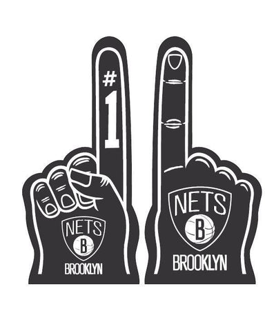 Brooklyn Nets Accessories BLACK Brooklyn Nets Foam Finger - Black