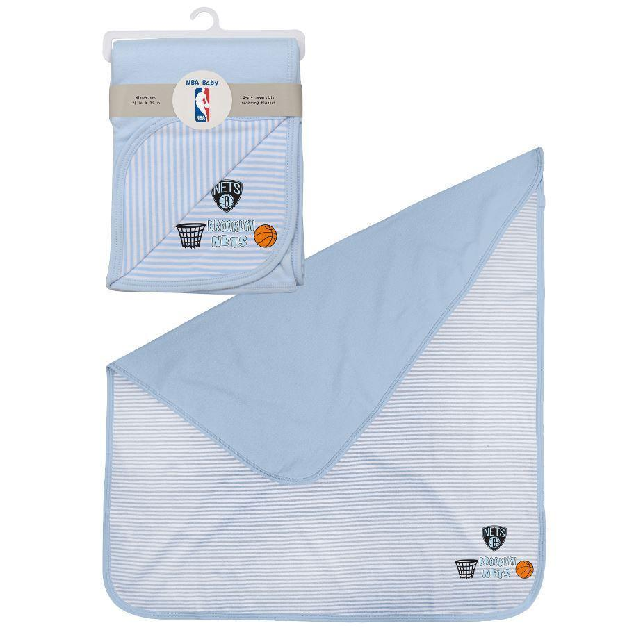 Brooklyn Nets Accessories BLUE / OSFA Brooklyn Nets Newborn Baby Blanket - Blue